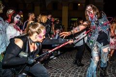Zombie apocalypse parade Royalty Free Stock Image