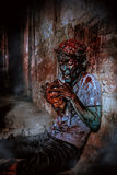 Zombie arrabbiato immagine stock libera da diritti