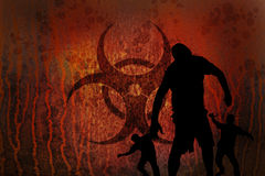 Zombie arrugginiti di rischio biologico Immagine Stock