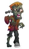 Zombie auf lokalisiertem Weiß Stockbild