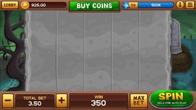 Zombie background for slots game Royalty Free Stock Images