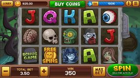 Zombie background for slots game Stock Images