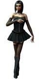 Zombie ballerina. 3D render of a zombie ballerina girl in a black dress Stock Image