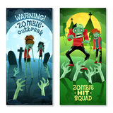 Zombie Banners Set Royalty Free Stock Photo