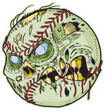 Zombie Baseball Vector Cartoon. A Zombie Baseball Vector Cartoon! Color elements are in a separate layer in the .eps for easy customization Royalty Free Stock Photo