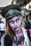 Zombie. Belgrade, Serbia - October 19, 2013: Zombie on a street during a second zombie walk in Belgrade on October 19, 2013 in Belgrade, Serbia Royalty Free Stock Image