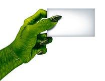 Zombie Blank Card Stock Photo
