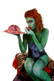 Zombie body paint Royalty Free Stock Image