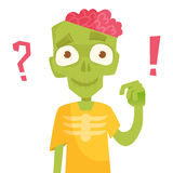 Zombie, brains. Vector illustration. Zombie, brains. Vector illustration Cartoon character Isolated vector illustration