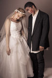 Zombie Bride and Groom. Full Makeup Royalty Free Stock Photos