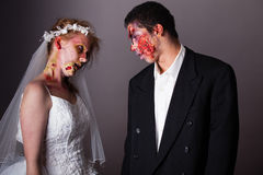 Zombie Bride and Groom Stock Photography