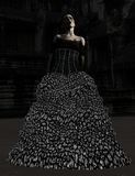 Zombie bride in the moonlight Royalty Free Stock Photo