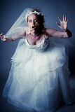 Zombie Bride. Young Woman as a Zombie Bride shot in studio Royalty Free Stock Photos