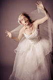Zombie Bride. Young Woman as a Zombie Bride shot in studio Royalty Free Stock Photo