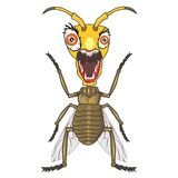 Zombie bugs cartoon4 vector illustration