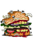 Zombie Burger illustration Royalty Free Stock Images