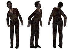 Zombie in business suit Royalty Free Stock Photography