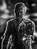 Zombie businessman drawing. Illustration on theme of apocalypse. Stock Photo