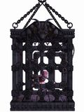 Zombie in a cage - Halloween Figure Stock Photography