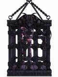 Zombie in a cage - Halloween Figure Stock Images
