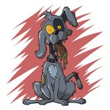 Zombie Canine Dog. A cdog zombie in an undead semi-deteriorated state canine corpse stock illustration
