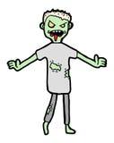 Zombie cartoon. Hand drawn zombie, cartoon illustration stock illustration
