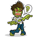 Zombie cartoon character. In halloween. file easy use in your work vector illustration