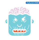 Zombie cartoon character, vector illustration Stock Photo