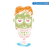 Zombie cartoon character, vector illustration Royalty Free Stock Photography