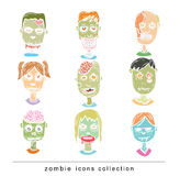 Zombie cartoon character, vector illustration Royalty Free Stock Image