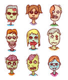 Zombie cartoon doodle, vector illustration Stock Photography