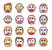 Zombie cartoon doodle, vector illustration Royalty Free Stock Photography