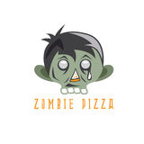 Zombie cartoon face with pizza slice vector design Stock Photo