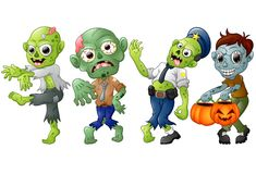 Zombie cartoon Halloween costumes Stock Photography