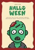 Zombie invitation card stock illustration