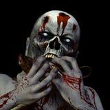 Zombie che mangia un ratto royalty illustrazione gratis