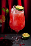 Zombie Cocktail. Dark and Light Rums, 151-proof Rum and Various Syrup, Grenadine, Grapefruit Juice, Lime Juice, Absinth and Cane Sugar Stock Image