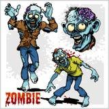 Zombie Comic Set - Cartoon zombie. Royalty Free Stock Photo