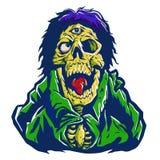 Zombie con un occhio sulla fronte illustrazione di stock