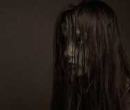 Zombie concept. Close up portrait of a girl possessed by demons. Zombie concept Royalty Free Stock Images