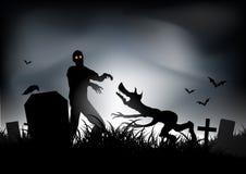 Zombie CONTRO il Werewolf Fotografia Stock