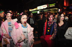 Zombie Crawl and Parade 2015, Toronto, Ontario, Canada Royalty Free Stock Photos