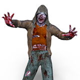 Zombie. 3D CG rendering of a zombie Royalty Free Stock Image
