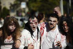 Zombie Day of walking dead Royalty Free Stock Image
