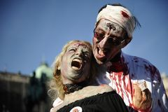 Zombie Day of walking dead Stock Photos