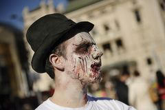 Zombie Day of walking dead Royalty Free Stock Photography