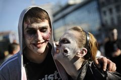 Zombie Day of walking dead Stock Image
