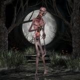 Zombie - de Scène van Halloween Stock Foto's