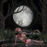 Zombie - de Scène van Halloween Royalty-vrije Stock Foto's