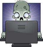 Zombie del calcolatore illustrazione di stock
